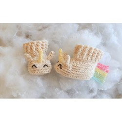 Chaussons Licorne (0-3 mois)